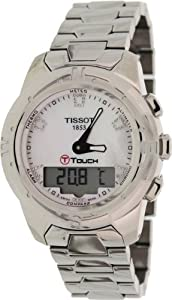 Tissot Women's T-Touch Ii T047.220.44.116.00 Silver Titanium Swiss Quartz Watch with Mother-Of-Pearl Dial