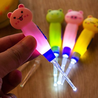 Starlite 4 in 1 Cute Cartoon Animal Detachable LED Flashlight Earpick Curette Ear Spoon Tweezer Earwax Remover Cleaning Tool