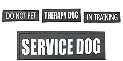 ALBCORP Velcro Patches for Vests and Harness - Service Dog, In Training, Therapy Dog and Do Not Pet Patches