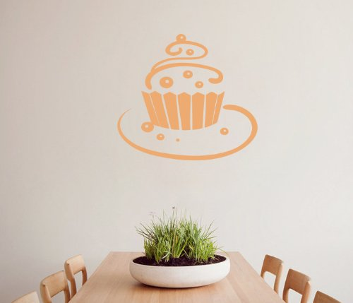 Housewares Vinyl Decal Sweet Cake Cupcake Home Wall Art Decor Removable Stylish Sticker Mural Unique Design For Room Bakery Cafe Kitchen back-996995
