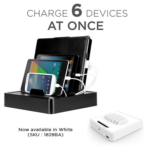 Universal Multi-Device Charging Station for all iPhones, iPads, Nexus, Galaxy, and Other Smartphones and Tablets (MV-UNI-6)