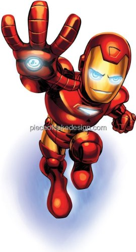 1/4 Sheet ~ Iron Man Flying Birthday ~ Edible Image Cake/Cupcake Topper!!!