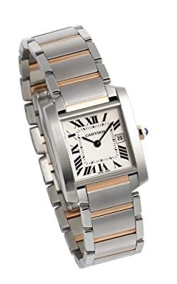Cartier Midsize W51012Q4 Tank Francaise Stainless Steel and 18K Gold Watch