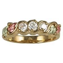 buy 10 Karat Gold, Ladies, Round White Cz Ring (5.0)