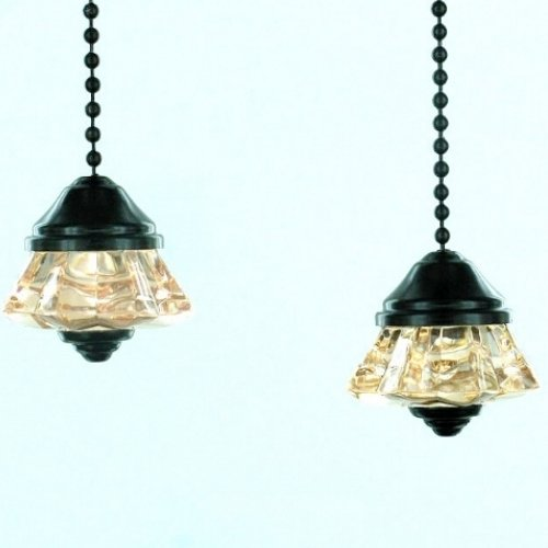 Pair of Oiled Bronze Ceiling Fan Pulls Chain Extentions Light Pull