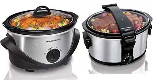 Hamilton Beach 33472 Stay or Go 7 Qt.S low Cooker Portable Counter Top Crock Pot (Hamilton Beach Crock Pot 33141 compare prices)