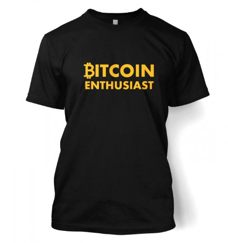 Something Geeky PP – Bitcoin Enthusiast T-shirt  Black