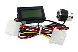 """1/4"""" Thread In Line Temperature Sensor with LCD Display : Red LCD"""