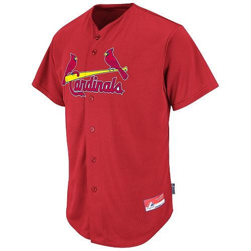 St. Louis Cardinals Full-Button BLANK BACK Major League Baseball Cool-Base Replica MLB Jersey at Amazon.com