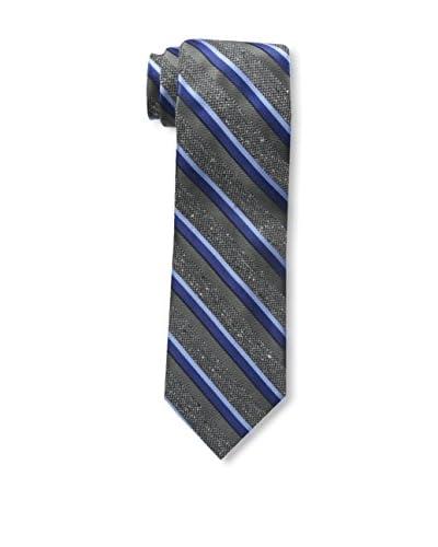 Bruno Piattelli Men's Boucle Textured Silk Necktie, Charcoal