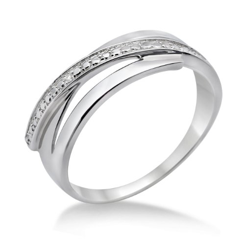 Miore 925 Sterling Silver Ladies Crossover (0.005ct)