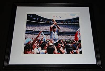 Diego Maradona 1986 World Cup Goal of the Century Framed 8x10 Photo Poster