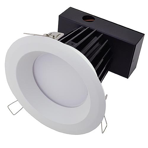 LEDwholesalers 6-in Retrofit Recessed Dimmable 30 Watt LED Downlight with White Trim, ETL Listed, Warm White 2209WW