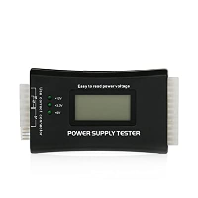 HDE PC and Network LCD Test Kit - Post Analyzer, Network Cable Tester, and Power Supply Tester