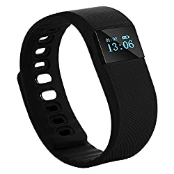 PH Artistic Smart band Sports Bracelet Wristband Fitness Tracker for iPhone iOS and Android phone - Black
