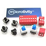 microtivity IM251 Assorted Switches (Pack of 9)