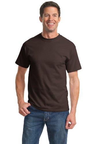 Port & Company Essential T-Shirt, L, Dk Choc. Brown