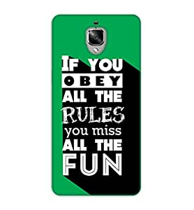 Happoz Oneplus 3 Cases Back Cover Mobile Pouches Shell Hard Plastic Graphic Armour Premium Printed Designer Cartoon Girl 3D Funky Fancy Slim Graffiti Imported Cute Colurful Stylish Boys D343