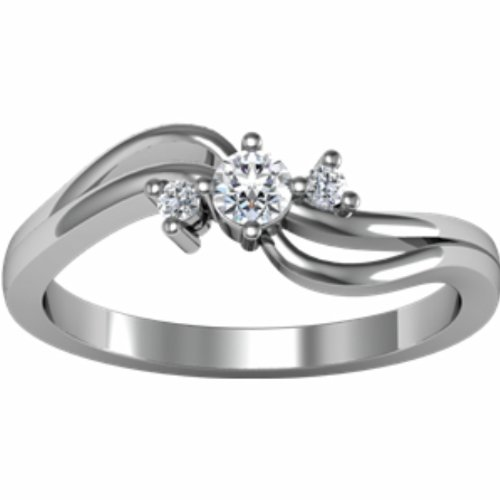 14K White Gold Diamond Promise Ring - 0.14 Ct. - Size 5