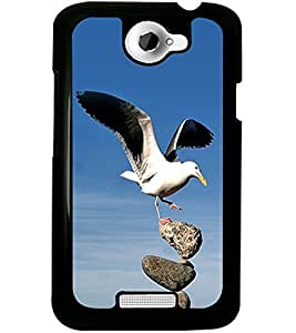 ColourCraft Bird Design Back Case Cover for HTC ONE X