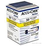 Accu-Chek AVIVA Diabetic Test Strips Box of 50