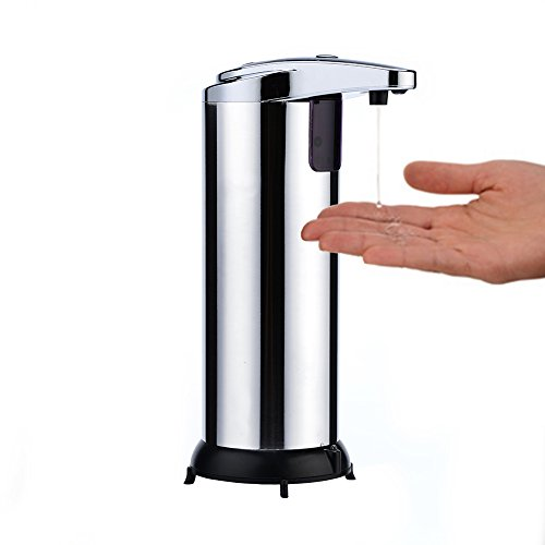 purp-pie-280ml-stainless-steel-ir-smart-sensor-touchless-automatic-premium-liquid-soap-dispenser-for