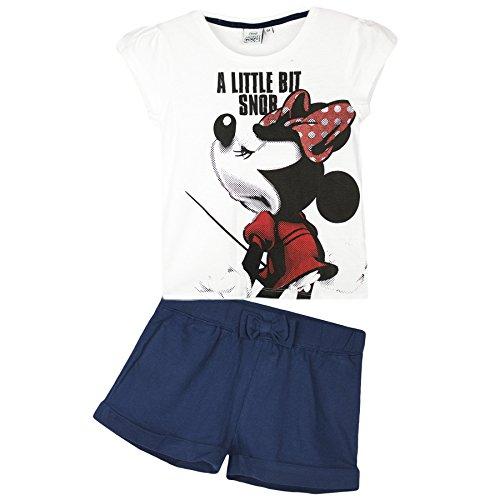 Disney-Minnie-Mouse-Nias-Verano-Set-Pantalones-cortos-Top-Camiseta-2-8-Aos-Coleccin-2016