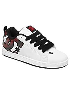 DC Men's Court Graffik SE Shoe,White/Red/Print,10 M US