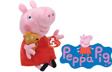 Peppa Pig TY Beanie baby, plush toys