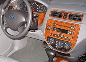 Ford Focus Interior Burl Wood Dash Trim Kit Set 2005 2006 2007 Automotive