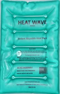 HEAT WAVE Instant Reusable Heat Pack - LARGE (8 x 12 inches) - Premium Quality - Medical Grade - made in USA