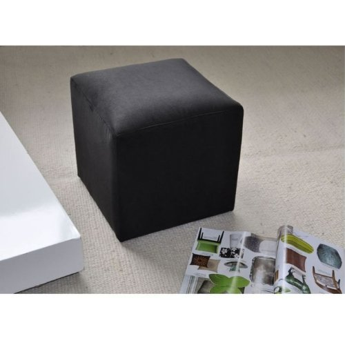 pouf carr noir pas cher. Black Bedroom Furniture Sets. Home Design Ideas