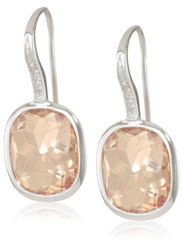Giorgio Martello Sterling Silver Citrine Cubic-Zirconia Earrings