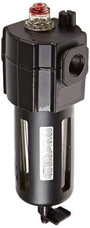 "Dixon L74M-4 Norgren Series Micro-Fog Lubricator with Transparent Bowl and Guard, 1/2"" Size, 154 SCFM, 1/2"" Port Size, 150 PSI"