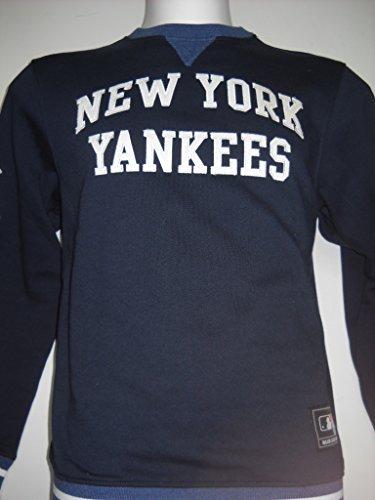 NEW YORK YENKEES MAJESTIC MAGLIONE FELPA UOMO TG M BLU GIROCOLLO COTONE FELPATO CALDO
