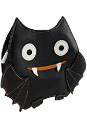 Small Bat Crossbody Shoulder Bag (Black & Orange)