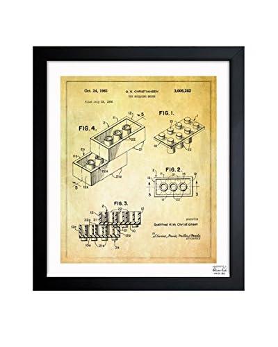Oliver Gal Lego Toy Building Brick, 1961 Framed Art