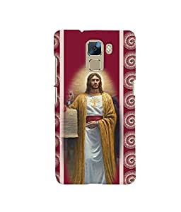 Fuson 3D Printed Lord Jesus Designer back case cover for Huawei Honor 7 - D4413