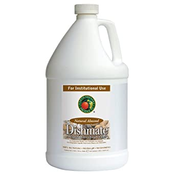 Earth Friendly Products Proline PL9700/04 Dishmate Almond Ultra-Concentrated Liquid Dishwashing Cleaner, 1 gallon Bottles (Case of 4)