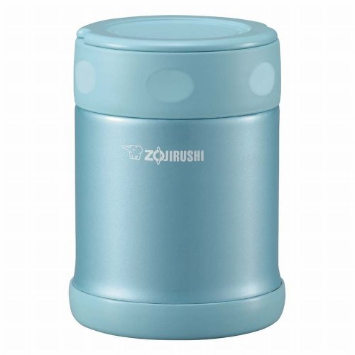 Zojirushi Stainless Food Jar [350Ml] Aqua Blue Sw-Eb35-Ab front-502566