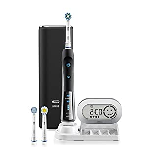 Oral-B BLACK 7000 SmartSeries Power Rechargeable Electric Toothbrush with Bluetooth Connectivity Powered by Braun
