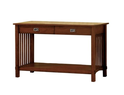 Furniture Of America Liverpool 2-Drawer Mission Style Entryway Table, Antique Oak Finish