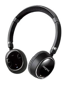 Creative WP-350 - Auriculares de diadema abiertos Bluetooth (con micrófono), negro