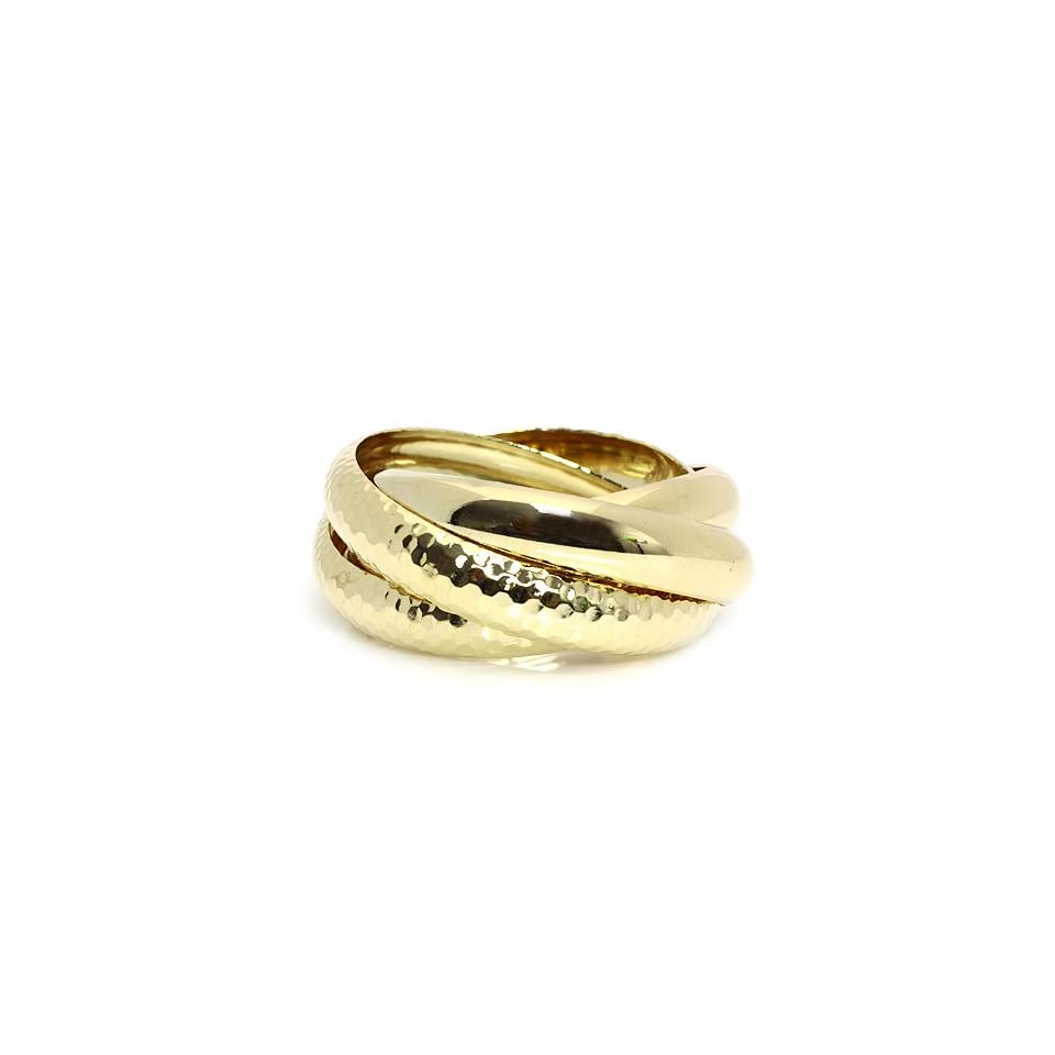 Fashion Bangle Bracelet; Gold Metal