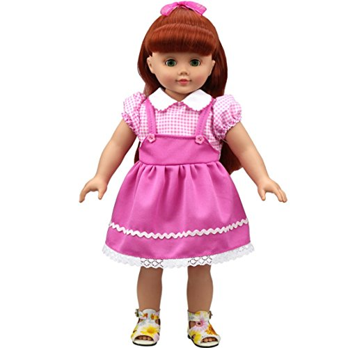 [HappyBB Baby Doll Clothes Skirt Fits 16 inches American Girl Doll - Harness Dress] (2pc Child Cheerleader Costumes)