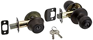 Kwikset 690 Polo Entry Knob and Single Cylinder Deadbolt Combo Pack in Venetian Bronze