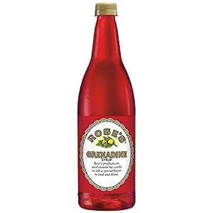 Rose's Grenadine, 1 L bottles (Pack of 12)