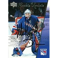 Buy Mike Dunham Autographed Hand Signed Hockey Card (New York Rangers) 2003 UD Rookie Update #66 by Hall of Fame Memorabilia