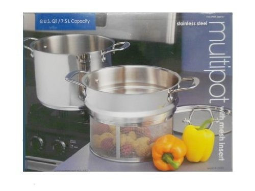 Stainless Steel Pot with Mesh Insert 8 Quart