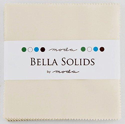 Bella Solids Ivory Moda Charm Pack By Moda Fabrics; 42 - 5